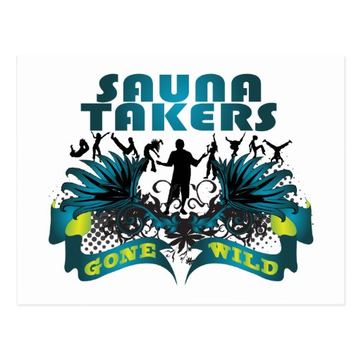 Sauna Takers Gone Wild Post Cards