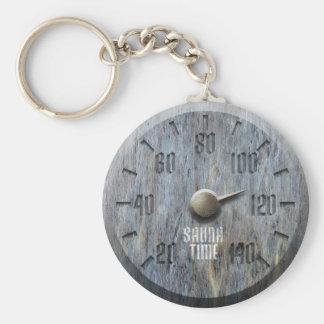 Sauna Time Keychain