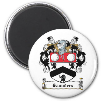 Saunders Family Crest 2 Inch Round Magnet