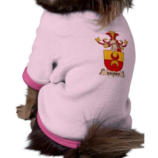 Saurer Family Crest Doggie Tee