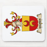 Saurer Family Crest Mouse Pad