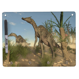 Saurolophus dinosaurs - 3D render Dry Erase Board With Keychain Holder