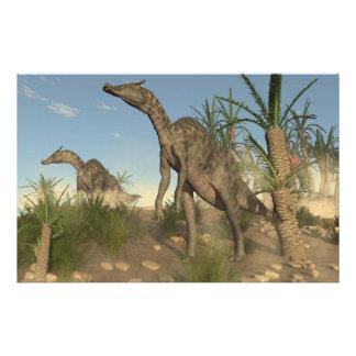 Saurolophus dinosaurs - 3D render Stationery