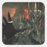 Sauron con la mano pegatina cuadradas personalizada