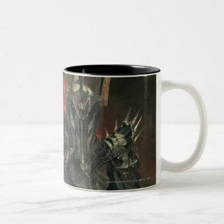 Sauron con la mano taza dos tonos