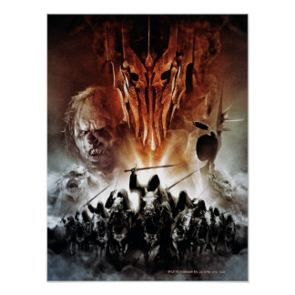 Sauron Orcs Witchking and Ring Wraiths Poster