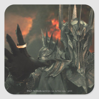 Sauron wth Hand Square Sticker