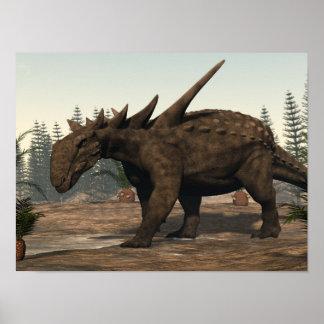 Sauropelta dinosaur - 3D render Poster