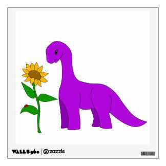 Sauropod and Sunflower Wall Sticker