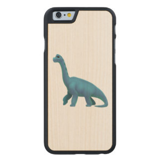 Sauropod - Emoji Carved Maple iPhone 6 Slim Case