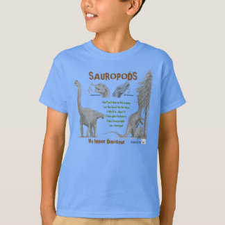 Sauropods My Inner Dinosaur Kids Shirt Greg Paul