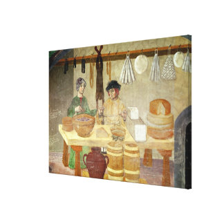 Sausage and Cheese Sellers Canvas Print