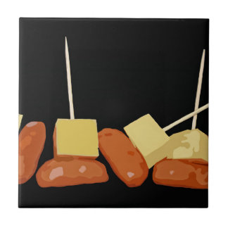 Sausage and Cheese Tile
