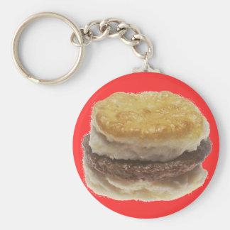 Sausage Biscuit Basic Round Button Keychain