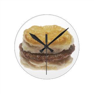 Sausage Biscuit Round Clock