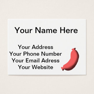 Sausage Business Card