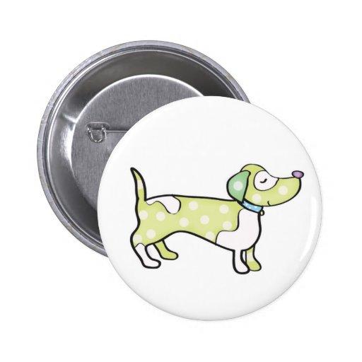 sausage dog pinback buttons