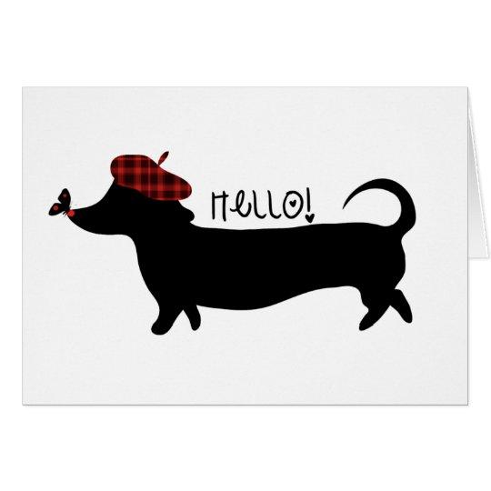 Sausage Dog Card