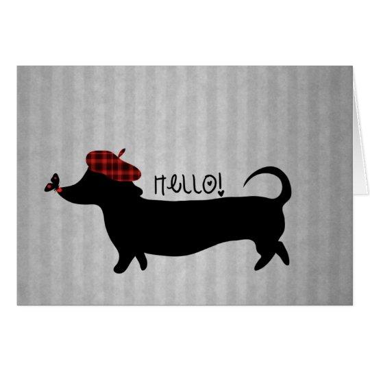 Sausage Dog Greeting Card