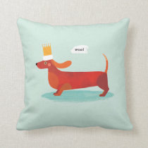 Sausage Dog! Throw Pillow