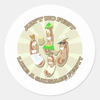 Sausage Fest! Round Sticker