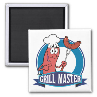 Sausage Grill Master Refrigerator Magnets