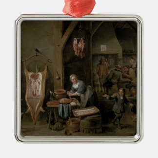 Sausage-making, 1651 metal ornament