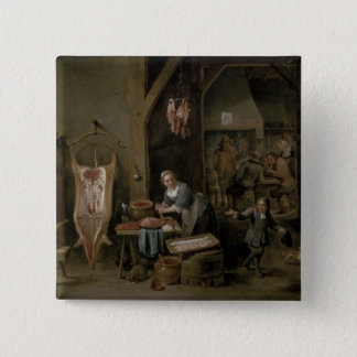 Sausage-making, 1651 pinback button