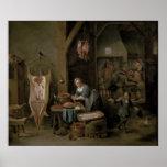 Sausage-making, 1651 poster