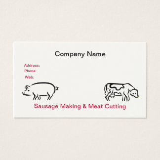 Sausage & Meat Business Card