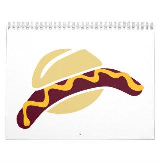 Sausage mustard roll wall calendar