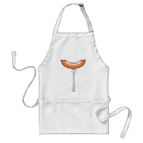 Sausage on a fork adult apron