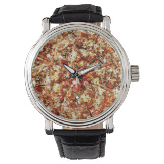 Sausage Pepperoni Pizza Wristwatch