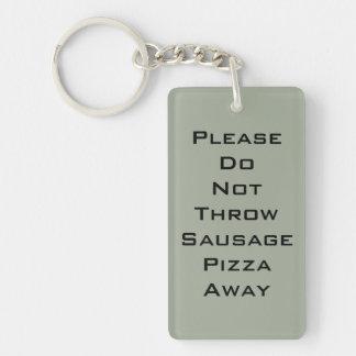 Sausage Pizza Keychain