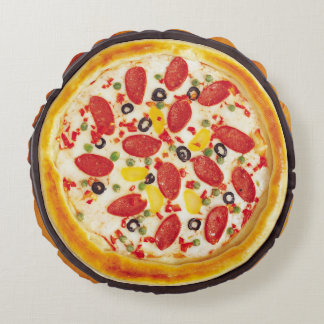 Sausage Pizza Round Pillow