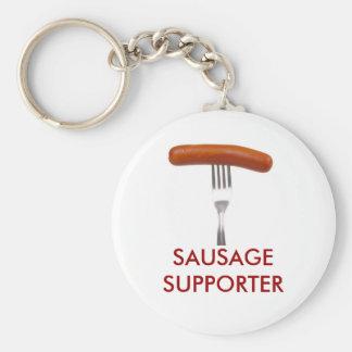 sausage stuck in fork keychain