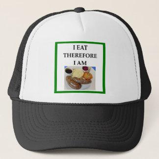 sausage trucker hat