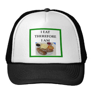sausage trucker hat