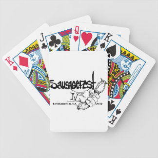 sausagefest gear bicycle playing cards