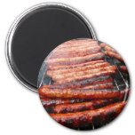 sausages 2 inch round magnet