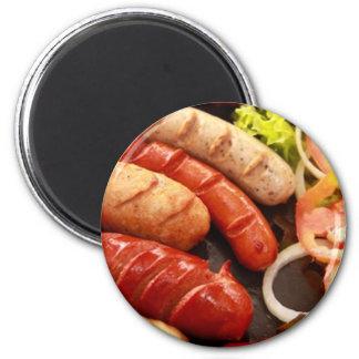 Sausages 2 Inch Round Magnet