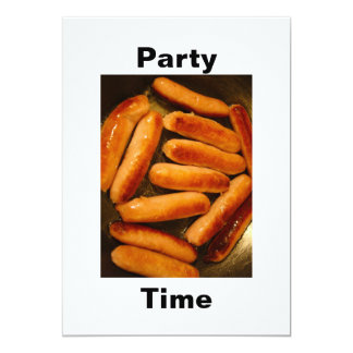Sausages Party Time Invitation