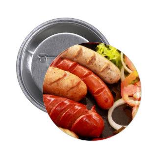 Sausages Pinback Button