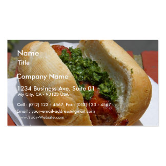 Sausages Rolls Chimichurri Sauces Business Card