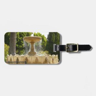 Sausalito Fountain California Travel Photography Bag Tag