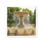 Sausalito Fountain California Travel Photography Napkin