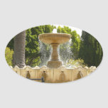 Sausalito Fountain California Travel Photography Oval Sticker