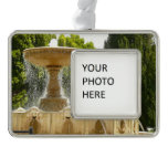 Sausalito Fountain California Travel Photography Silver Plated Framed Ornament