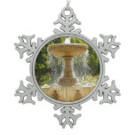 Sausalito Fountain California Travel Photography Snowflake Pewter Christmas Ornament