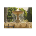 Sausalito Fountain California Travel Photography Wood Poster